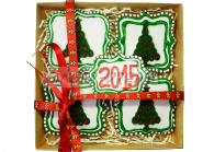 """Имбирные пряники новогодние в подарочных наборах """"Марципановые ёлки"""""""